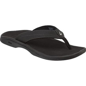 OluKai Shoes - Size 9 OluKai Ohana Black Faux Leather Sandals